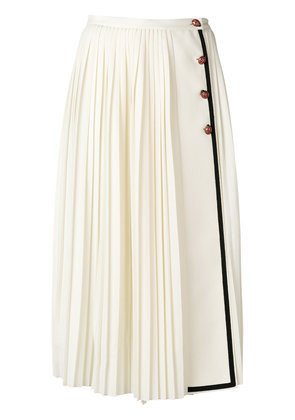 Gucci pleated midi skirt - White