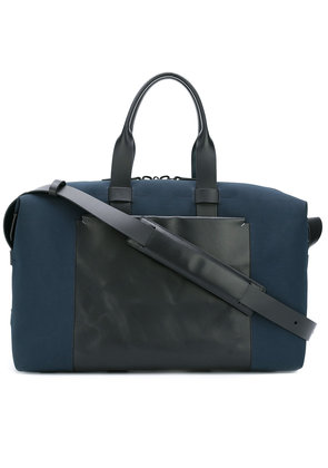 Troubadour Fabric + Leather Weekender - Blue