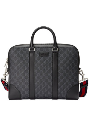 Gucci GG Supreme briefcase - Black