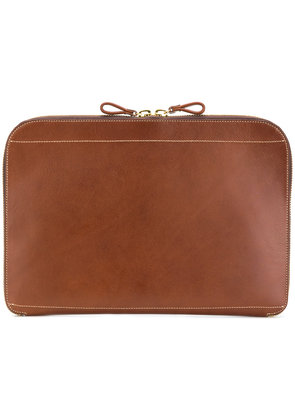 Al Duca D'Aosta 1902 zipped laptop case - Brown