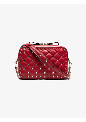 Valentino Red rockstud quilted leather crossbody bag