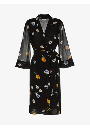 Ganni tie waist floral dress