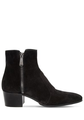 55MM ZIP SUEDE ANKLE BOOTS