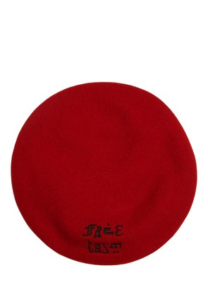 LOGO EMBROIDERED WOOL BERET