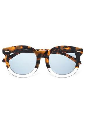 Karen Walker Woman Round-frame Tortoiseshell Acetate And Gold-tone Sunglasses Light Brown Size -
