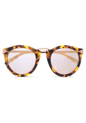 Karen Walker Woman Round-frame Tortoiseshell Acetate And Rose Gold-tone Sunglasses Brown Size -