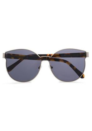 Karen Walker Woman Round-frame Silver-tone And Tortoiseshell Acetate Sunglasses Gold Size -
