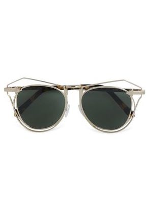 Karen Walker Woman Aviator-style Tortoiseshell Acetate And Gold-tone Sunglasses Gold Size -