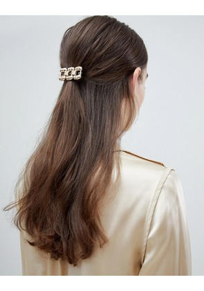 ASOS DESIGN chunky chain hair clip in gold - Gold