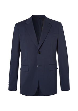 Navy Stretch-wool Twill Suit Jacket