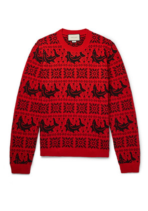 Gucci - Fair Isle Jacquard Wool And Alpaca-blend Sweater - Red