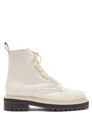 High-top leather combat boots