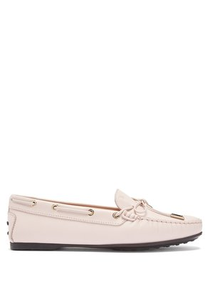 Gommino lace-up leather loafers
