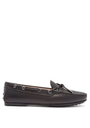 Gommino saffiano-leather driving loafers