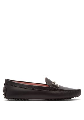 Gommino T-bar leather loafers