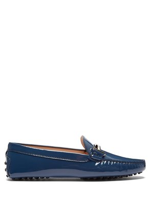 Gommino T-bar patent-leather loafers