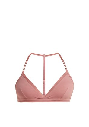Orla stretch pima cotton soft-cup bra