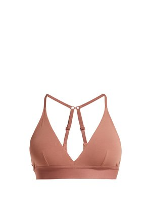 Hadlee soft-cup stretch-cotton bra