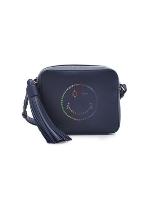 Anya Hindmarch Rainbow Wink Leather Crossbody Shoulder Bag