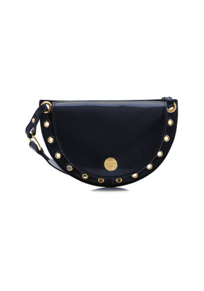 See by Chlo © Patent Leather Shoulder Bag with Embellishment