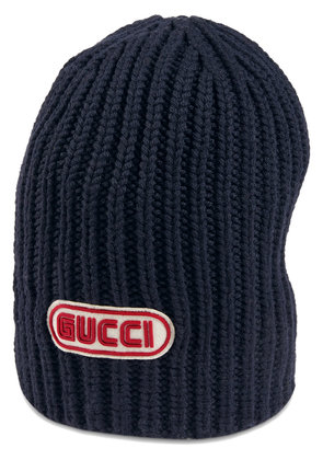 Gucci Wool hat with Gucci patch - Blue
