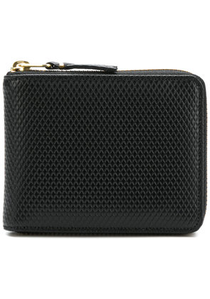 Comme Des Garçons Wallet diamond effect zip around wallet - Black