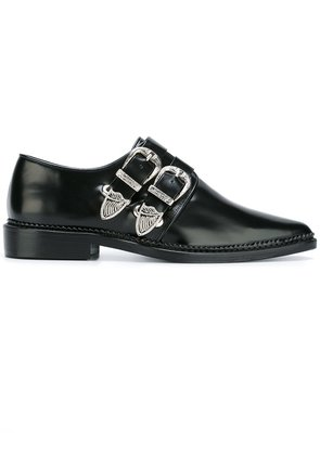 Toga Pulla buckled pointed toe shoes - Black