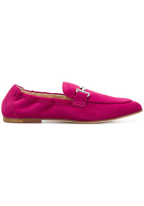 Tod's double T loafers - Pink & Purple