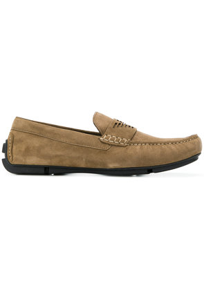 Emporio Armani driving shoes - Brown