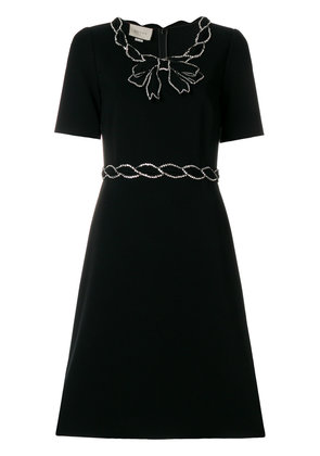 Gucci crystal trim dress - Black