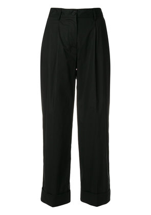 P.A.R.O.S.H. straight leg cropped trousers - Black