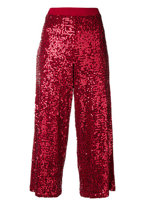 P.A.R.O.S.H. sequined culottes - Red