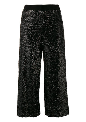 P.A.R.O.S.H. sequined culottes - Black