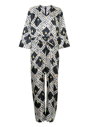 Astraet printed jumpsuit - Blue