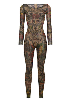 Dsquared2 tattoo skinny-fit jumpsuit - Black