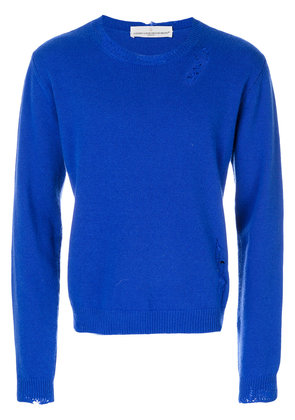 Golden Goose Deluxe Brand distressed jumper - Blue