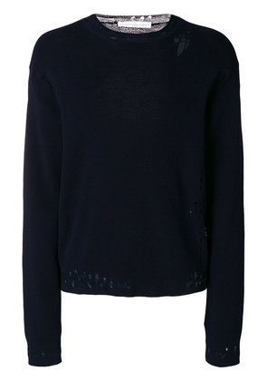 Golden Goose Deluxe Brand distressed fitted sweater - Blue