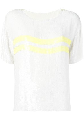 P.A.R.O.S.H. sequin embellished T-shirt - White