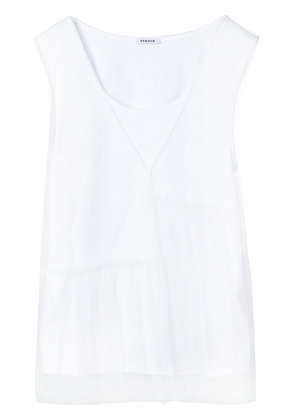 P.A.R.O.S.H. layered tulle top - White