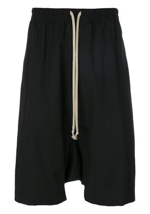 Rick Owens drop-crotch track pants - Black