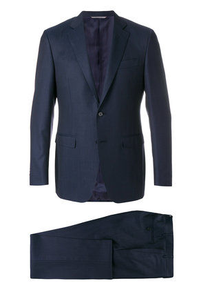 Canali slim single breasted suit - Blue