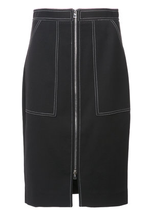 Dvf Diane Von Furstenberg zip front denim skirt - Black