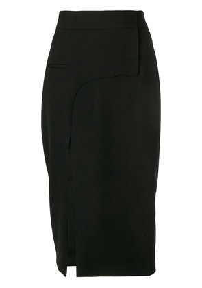 Haider Ackermann slit front pencil skirt - Black
