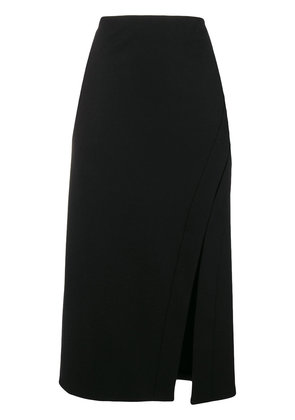 Jil Sander slit detail pencil skirt - Black