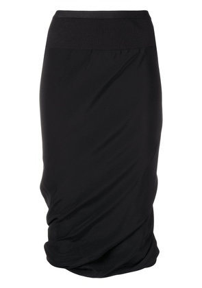Rick Owens ruched pencil skirt - Black