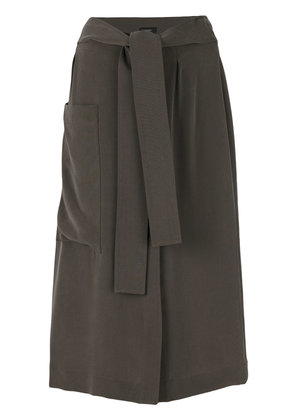 Joseph draped midi skirt - Green