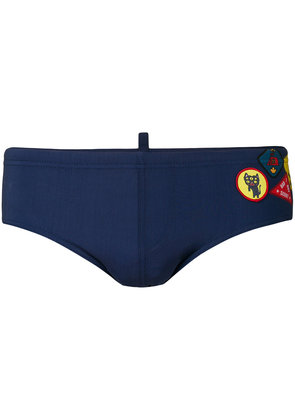 Dsquared2 patch embellished logo swimming trunks - Blue