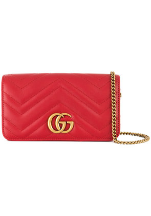 Gucci GG Marmont clutch - Red