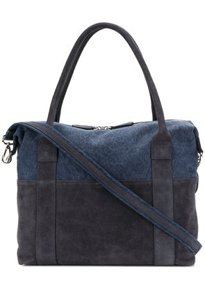 Eleventy double handle laptop bag - Blue