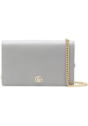 Gucci GG Marmont leather mini chain bag - Grey